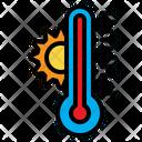 Temperature Thermometer Warm Icon