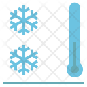 Cool Thermometer Snow Icon