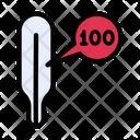 Temperature High Thermometer Icon