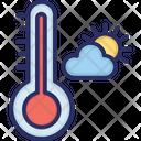 Temperature Cloud Sun Icon