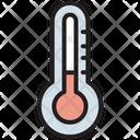 Fever Temperature Thermometer Icon