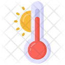 Hot Weather Temperature Thermometer Icon