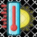 Temperature Hot Sun Icon