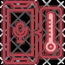 Temperature Voice Assistant Voice Note Icon