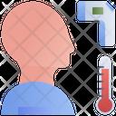Check Infrared Thermometer Temperature Icon