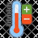 Temperature Control Thermometer Icon