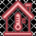 Temperature Control Thermometer Smart Home Icon