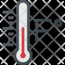 Temperature in Fahrenheit Icon