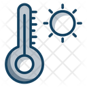 Hot Weather Summer Season Weather Temperature Icon