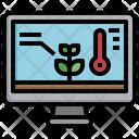 Temperature Monitor Weather Control Icon