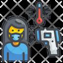 Temperature Scan Thermometer Coronavirus Icon