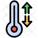 Temperature Up Down Icon