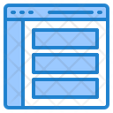 Website Layout Browser Icon
