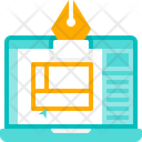 Template Wireframe Web Layout Icon