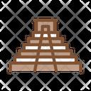 Temple Aztec Civilization Icon