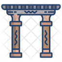 Temple Gate Temple Egypt Temple Icon