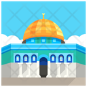 Temple Mount Jerusalem Landmark Icon
