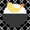 Bowl Rice Tempura Icon