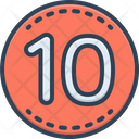 Ten Number Label Icon