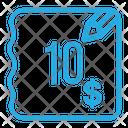 Ten Dollar Bill Icon