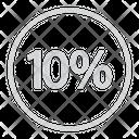 Ten Percentage Discount Icon