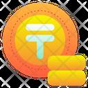 Tenge Money Coin Icon