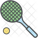 Tennis Racket And Icon