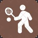 Tennis Player Racket Icon