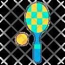 Tennis Ball Tennis Recket Tennis Game Icon