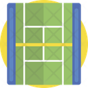 Lawn Tennis Field Play Icon