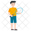 Tennis Player Outdoor Game Sportsman Icon
