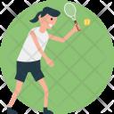 Tennis Match Player Icon