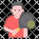 Sports Man Tennis Player Athlete Icon