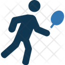 Tennis Player Tennis Playing Racket In Hand Icon