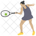 Tennis Playing Icon