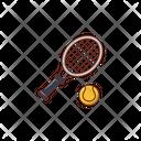 Tennis Wimbledon Racket Icon