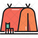 Camping Tent Chair Icon