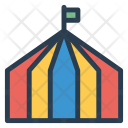Tent Camp Circus Icon