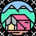 Picnic Tent Camp Icon