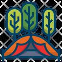 Tent Adventure Camp Icon