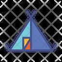 Camp Adventure Tent Icon