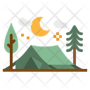 Tent Camp Rural Icon