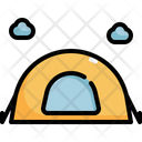Tent Camp Summer Icon
