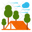 Tent Autumn Camping Icon