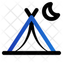 Tent Camping Vacation Icon