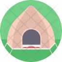 Tent Camping Beach Icon
