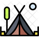 Tent Camping Adventure Icon