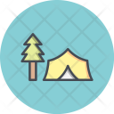 Camp Forest Tree Icon