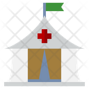 Tent Medical Refugee Camp Icon