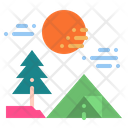 Tent Camping Forest Icon